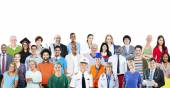 Group of People with Different Jobs — Stock Photo