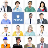 Multiethnic Mixed Occupations People — Stock Photo