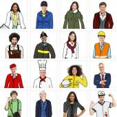 Diverse People in Professional Occupation — Stock Photo