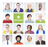 Multiethnic Diverse Colorful People — Stock Photo