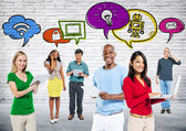 People with Social Communication — Stock Photo