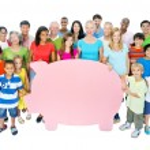 People Holding Piggy Bank — Stock Photo #63060557
