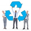 BusinessPeople Holding Recycle Symbol — Stock Photo #63066411