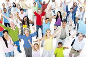 Multi-ethnic group of people celebration — Stock Photo