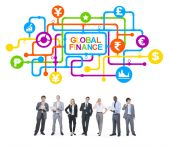 Business People and Global Finance — Stock Photo