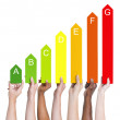People holding energy graph — Stock Photo #63073327