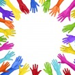 Colorful Hands Forming Circle — Stock Photo #63083153