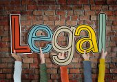 Hands holding word 'Legal' — Stock Photo