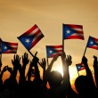 People Waving Flags of Puerto Rico — Stock Photo #63092957