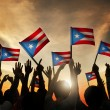 People Waving Flags of Puerto Rico — Stock Photo #63093065