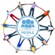 Multiethnic People Forming Circle — Stock Photo #63097217