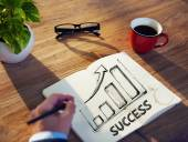 Man and Success Concept — Stock Photo