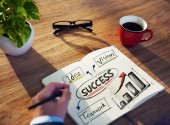 Man Success Concept — Stock Photo