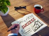 Man and Success Concepts — Stockfoto
