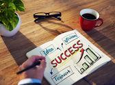 Man and Success Concepts — Φωτογραφία Αρχείου
