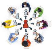 People Brainstorming about Connection — Stock Photo