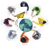 People with Global Communications Concept — Stock Photo