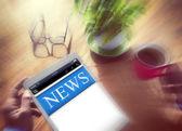 Concepto de noticias en línea — Foto de Stock