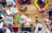 Multiethnic Designers Brainstorming — Stock Photo
