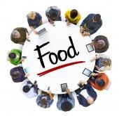Affärsmän med mat koncept — Stockfoto