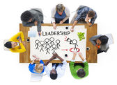 People and Leadership Concept — Stock Photo
