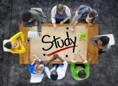 People and Single Word Study — Stock Photo