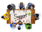 People and Single Word Support — Stock Photo