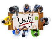 People and Single Word Unity — Stock Photo