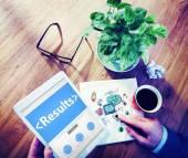 Results, Outcome Concept — Stock Photo