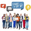 Group of People with Startup Concept — Stock Photo #63110465