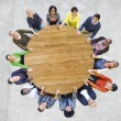 Multiethnic People Forming Circle — Stock Photo #63110759