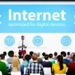 People on seminar about Internet — Stock Photo #63114213