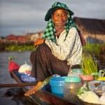 Local Cambodian Seller — Stock Photo #63117665