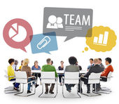 People Doing Team Discussion — Stock Photo
