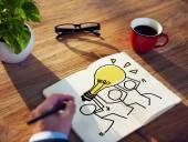 Businessman Brainstorming onIdeas — Stok fotoğraf