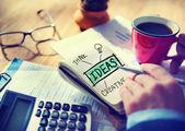 Businessman Writing Ideas . — Stock Photo