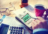 Businessman Writing WWW — Fotografia Stock