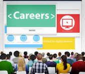 People on seminar about Careers — Stock Photo