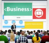 People on seminar about Global Business — Stock Photo