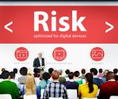 Risk Instability Danger Uncertainty Seminar Conference Learning — Stock Photo