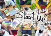 People Working with Startup Business — Stock Photo