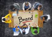 People with Brand Concept — Stock Photo
