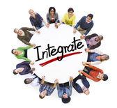 People Around word Integrate — Stock Photo