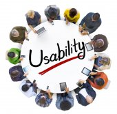 Зeople and Usability Concepts — Stock Photo