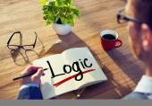 Man and Single Word Logic — Stock Photo