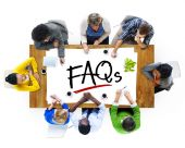 People and Text FAQs — Stock Photo