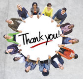 People Around words Thank you — Stock Photo