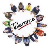 People and word tolerance — Stock Photo