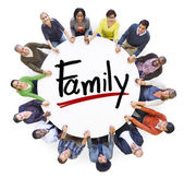 Diverse People around word Family — Stok fotoğraf