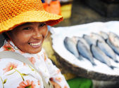 Indigenous Cambodian Woman — Stock Photo
